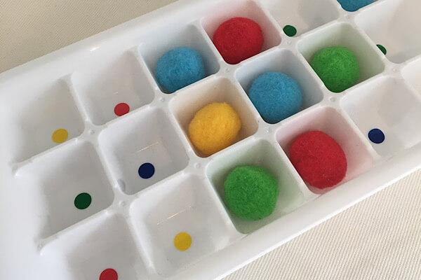 製氷機で色合わせ