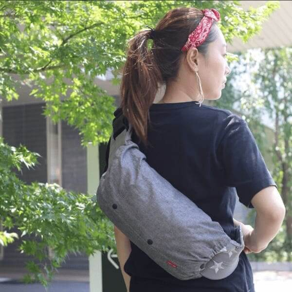 【L】ダンガリーグレー/抱っこひも収納カバー「ルカコ」 88-0676-11
