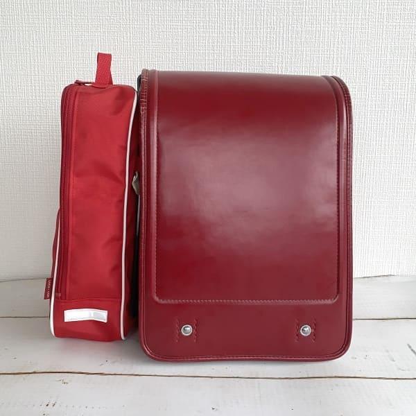 雨の日も安全!【てぶランスマート】ランドセルサイドポーチ(バッグ)赤