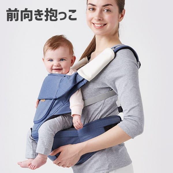 前向き抱っこ(景色が見える抱っこ)の赤ちゃんの太もものクッション