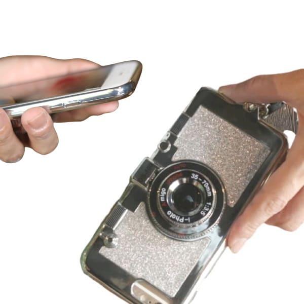 【ルカコノ】カメラみたいなおしゃれなスマホアイフォンカバー(ケース)