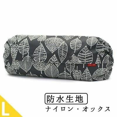 抱っこひも収納カバールカコ【L】防水生地リーフ柄ブラック